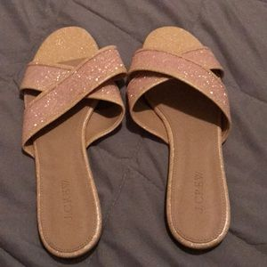 NWOT 9 Jcrew gold sandal